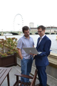 Rob talking to Tom Brake MP about digital campaigns